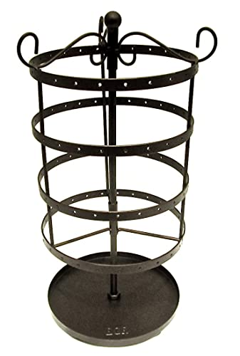 Amazoncom Earring Jewelry Brown Metal Carousel Spinning Organizer