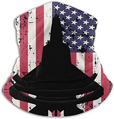 Anti Droplet Headband for Dust Face Scarf Outdoor Patriotic