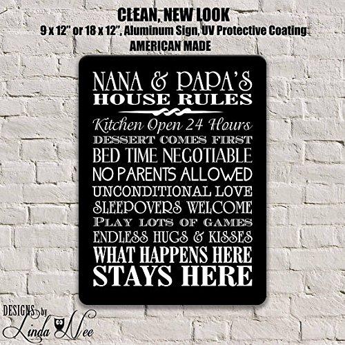 Mentalsign Regalos de Nana y Papa, Reglas de Nana y Papa ...