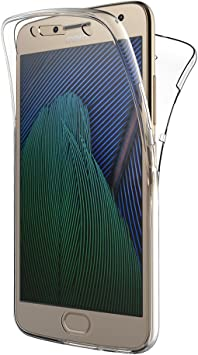 AICEK Funda Moto G5 Plus, Transparente Silicona 360°Full Body ...