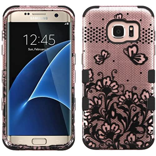 Galaxy S7 Edge Case, Rock Me Wireless (TM) 2 items Bundle - 24K Gold Plating Sticker and Triple Layers Hybrid Protector Case Cover for Samsung Galaxy S7 Edge. Sales