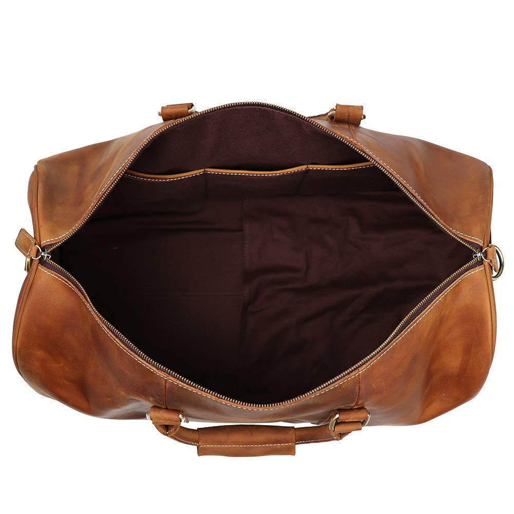Leather GYM Bag Gift For Him /& Her Hand Made Classy DUFFLE Travel Hand /& Shoulder Bag