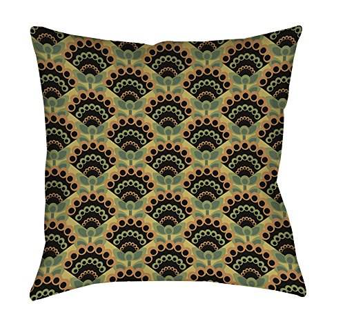 UPC 888635004958, Manual Woodworkers & Weavers Square Throw Pillow, 14-Inch, Tropical Breeze Fan