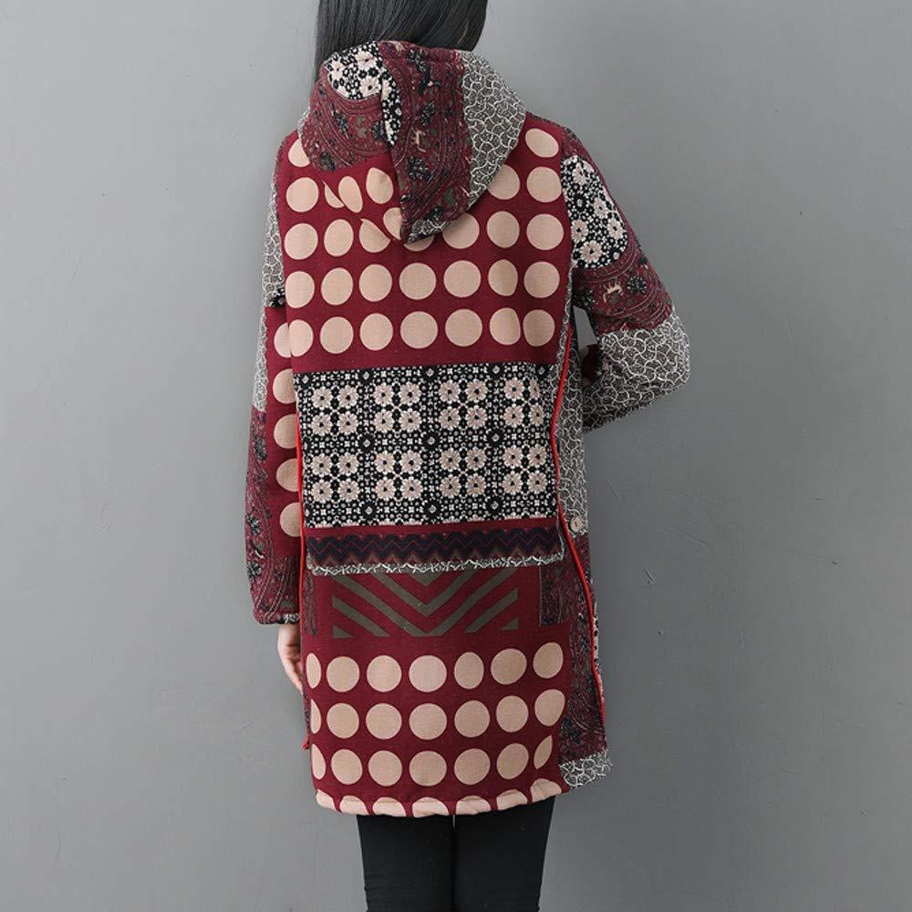 Bouton Outwear Polaire À Vintage Capuche Épaissir Mesdames Hiver oCrdWQexB