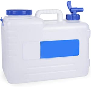 15L/ 4 Gallon Water Storage containers for Store Emergency Food- Portable Camping Water Tank Collapsible Water Container Drinking Storage Bucket with Tap