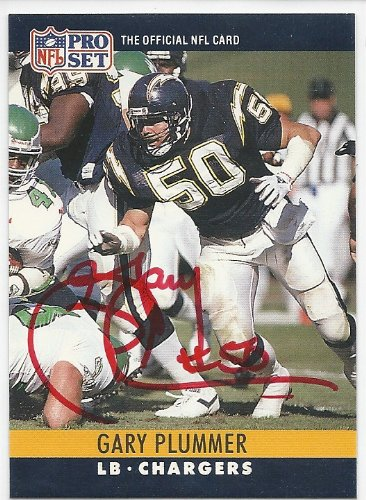 (1990, Gary Plummer, San Diego Chargers, Signed, Autographed, Pro Set Football Card, Card # 280, a COA Will Be Included)