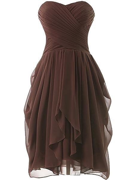 eeb290a31 HUINI Vestidos del Partido de Boda Sin Tirantes Corto de Dama de Honor  Vestidos de Baile  Amazon.es  Ropa y accesorios