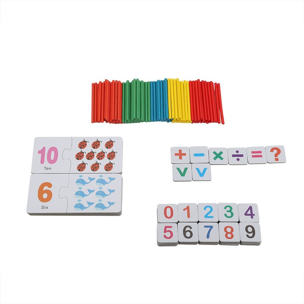 Baby Flash Cards Number Matching Puzzle Cards Early Educational Learning Toys Set Math Teaching Tool Birthday Christmas Gift for Children Kids Toddlers Zerodis