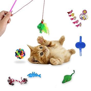 Juego de 16 juguetes para gatos, juguete divertido para ...