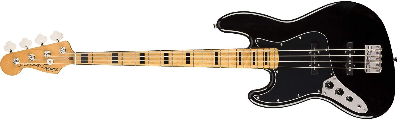 Squier by Fender エレキベース Classic Vibe '70s Jazz Bass® Left-Handed, Maple Fingerboard, Black  ブラック(レフトハンド) B07N29BK3B