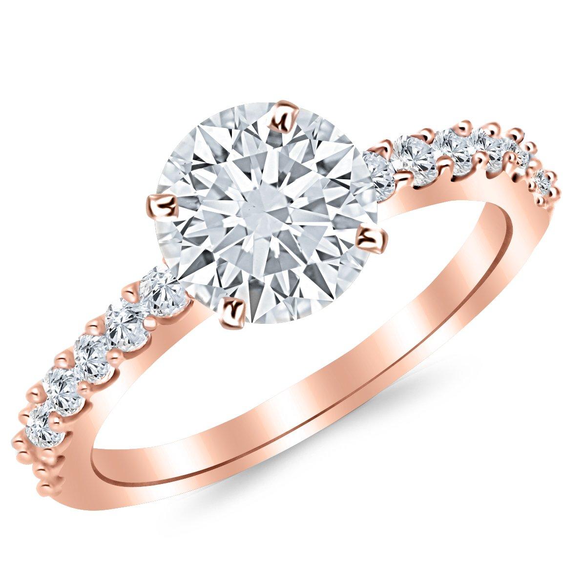 6900861b95da8 1.43 Carat 14K White Gold Classic Prong Set Diamond Engagement Ring with a  1 Carat JK I2 Center