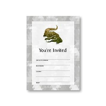 Amazon alligator jungle animal amazon flat party invitation alligator jungle animal amazon flat party invitation card 12 cards at 5x7 with stopboris Gallery