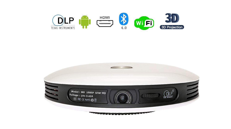 Proyector Portatil, Proyector 1080P 3D de Cine en Casa, Proyector ...