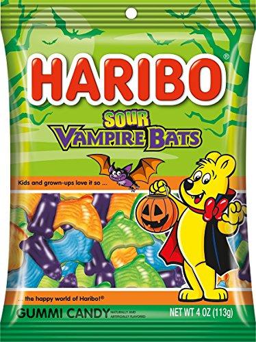 Haribo Sour - Haribo Sour Vampire Bats, 4 oz. Bag, (Pack of 12)