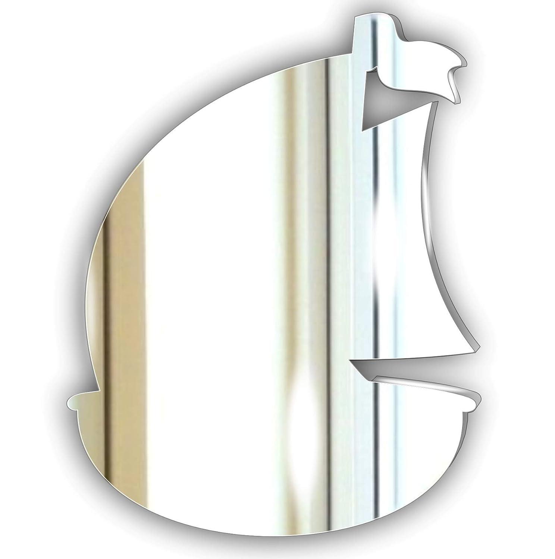10 cm /Unico Specchio per Sea Theme Bagno Acrilico Mirrors-Interiors Decorativo Barca Bagno Specchio in Acrilico/