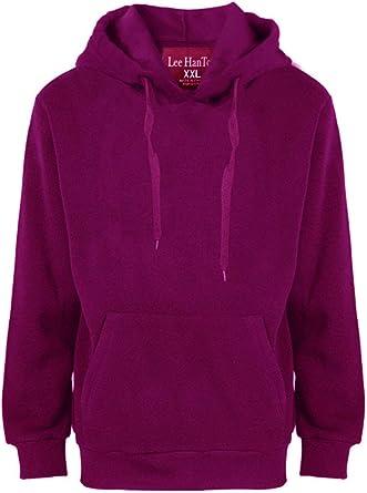 Mens Plain Colour Pullover Hoodie Fleece Hooded Sweatshirt Jumper Hoody Jacket