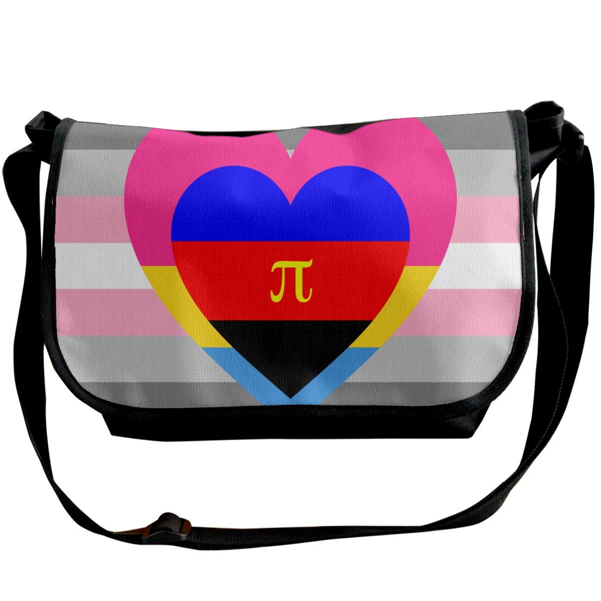 Futong Huaxia Pansexual Feminine Polyamorous by Pride Flags Travel Messenger Bags Handbag Shoulder Bag Crossbody Bag Unisex