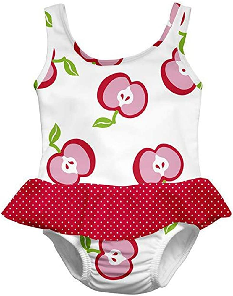 Infant Baby Girl Swimwear Ruffle Swimsuit One Piece Bathing Suit Rashguard 1-3t