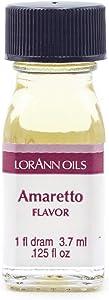 LorAnn Amaretto Super StrengthFlavor, 1 dram bottle (.0125 fl oz - 3.7ml) - 2 Pack
