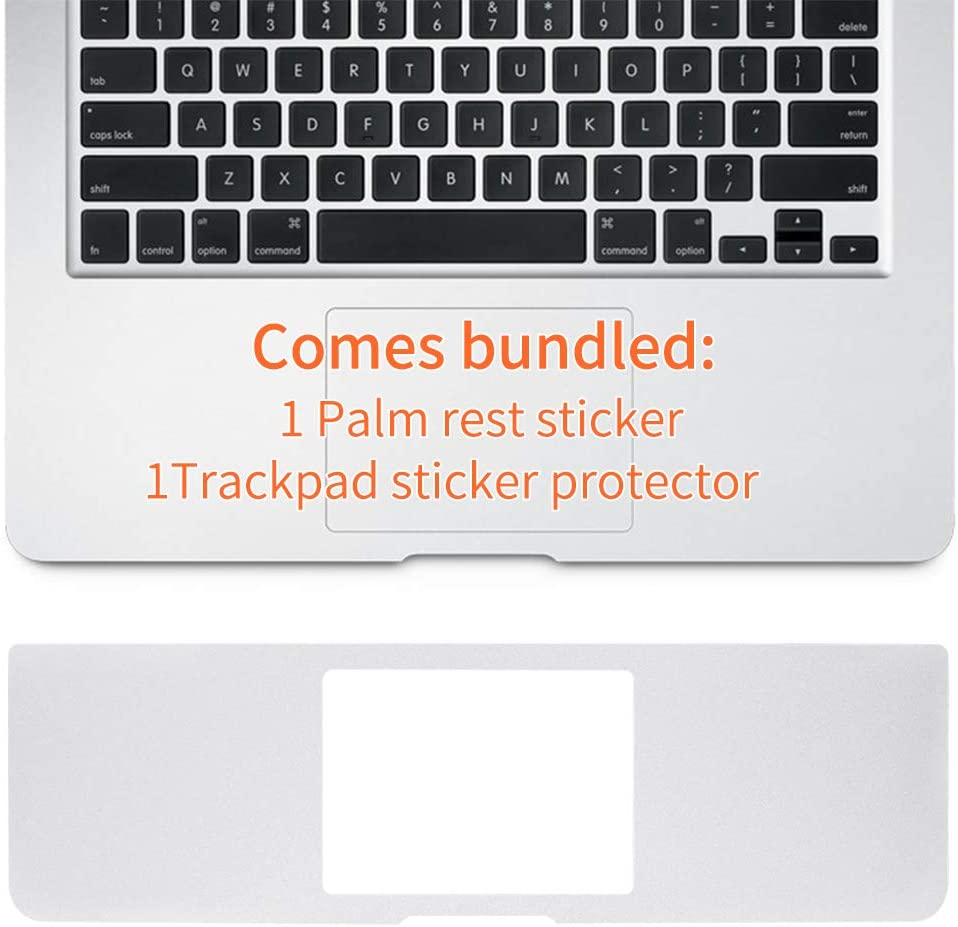 WYGCH Palm Rest Cover Skin with Trackpad Protector Compatible for 2018/2017/2016 Released 13 Inch MacBook Pro Model A1706 A1989 with Touch Bar (Silver)