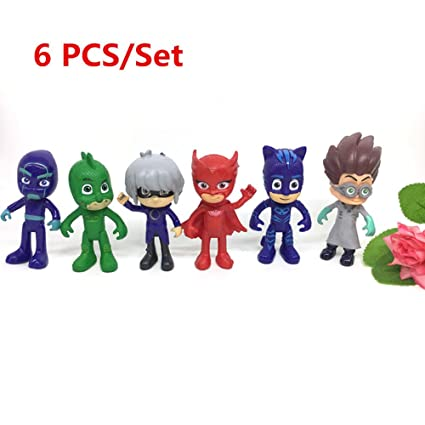 Action Figure Toy - 6 pcs Pj Masks Characters - 6 pcs Pj Masks Characters Catboy