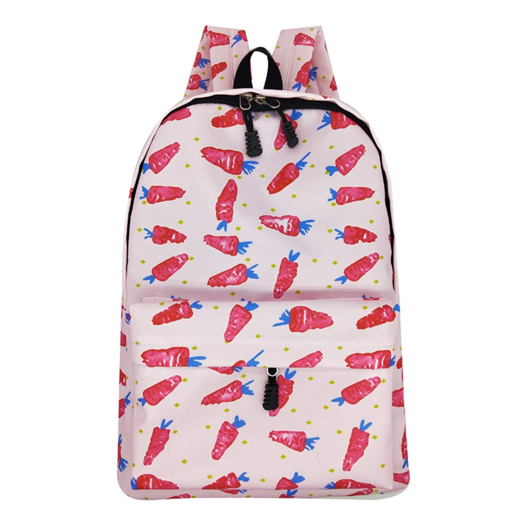 Lightweight Schoolbag Cute Printed Shoulder Bag Large Capacity Backpack Casual Travel Bag for Girls By Lmtime(A Multicolor)
