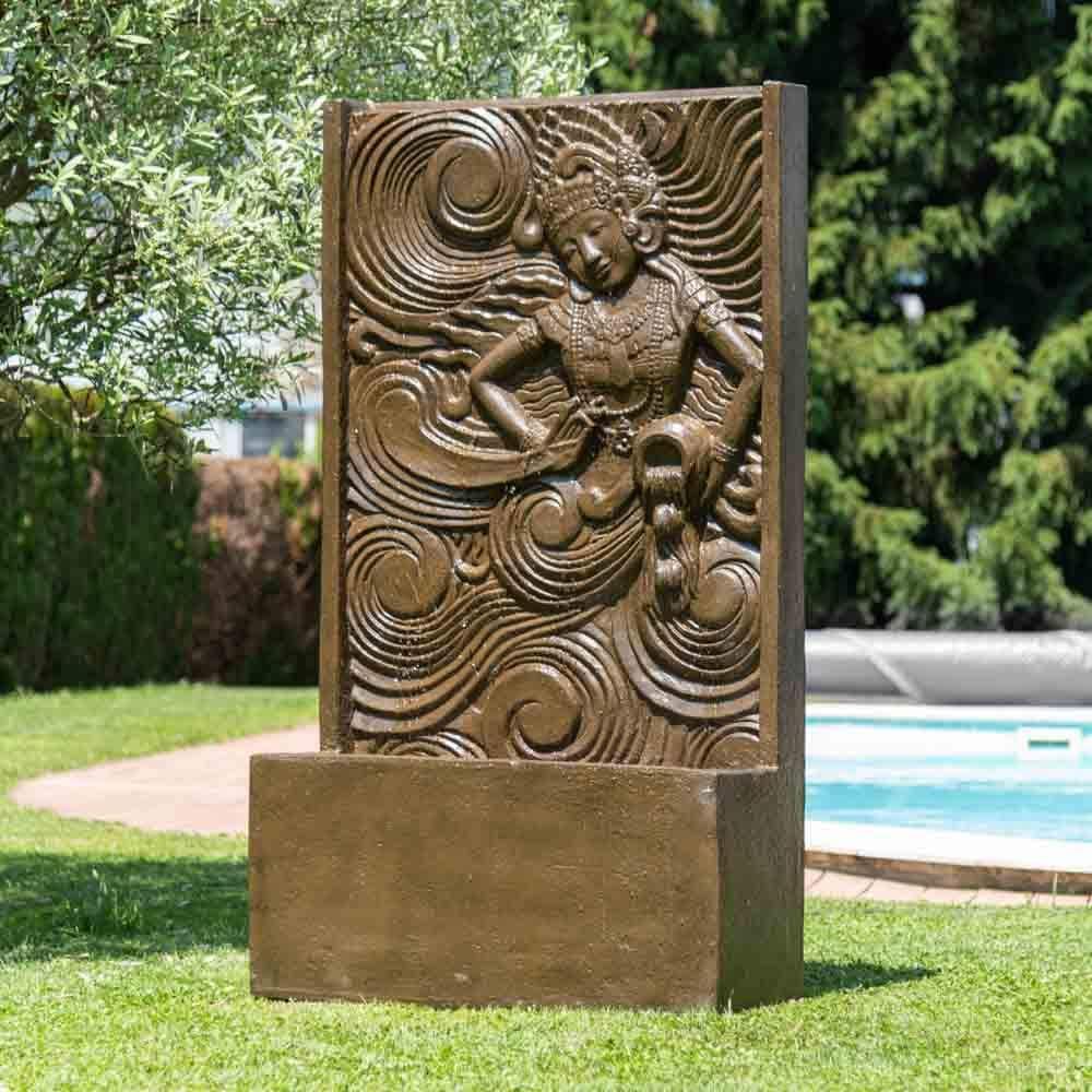 Wanda collection Fuente Grande de jardín Pared de Agua Diosa balinesa marrón 1, 50 m: Amazon.es: Jardín