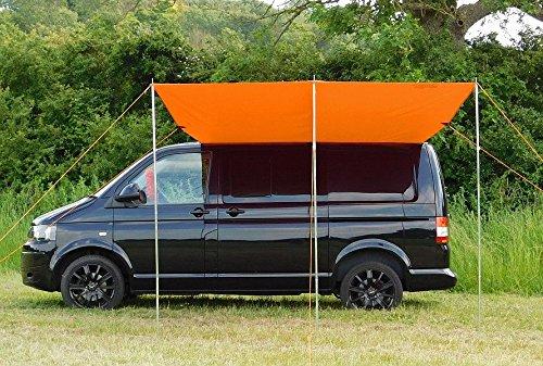 Tendalino a baldacchino copri sole per il camper,  arancione brillante Funky Leisure