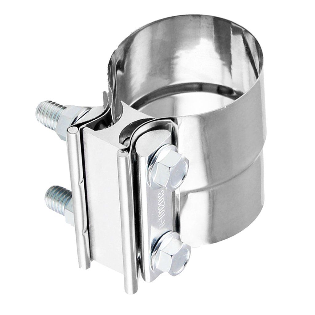 D DOLITY Sliver 2.25'' 2.5'' Stainless Steel Exhaust Band Clamp Step Lap Joint Clamp