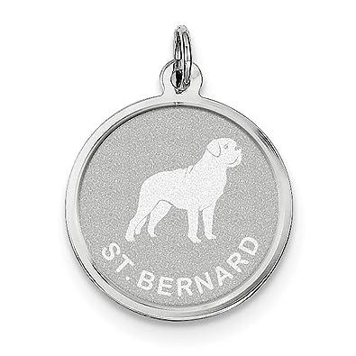 925 Sterling Silver Laser Etched Faceted Golden Retriever Dog Disc Charm Pendant