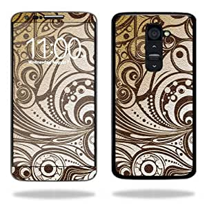 Protective Vinyl Skin Decal Cover for LG G2 T-Mobile Sticker Skins Vintage Swirls