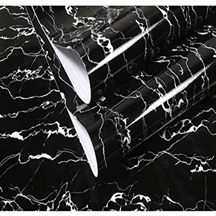 Amazon Com Black White Marble Contact Paper Backsplash Film