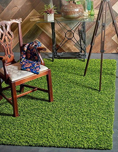Modern Plush Solid Grass Contemporary product image
