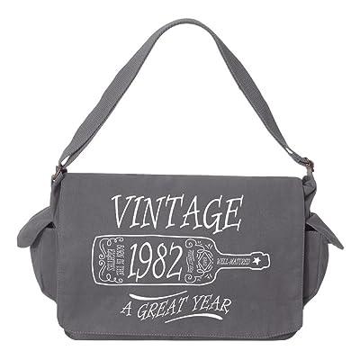 Tenacitee Aged Like a Fine Wine 1982 Brushed Canvas Messenger Bag