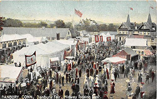 Danbury Fair, Midway looking east Danbury, Connecticut, CT, USA Postcard Post Card