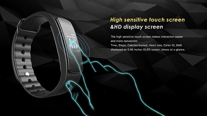 Amazon.com : Smart Bracelet, Bioxo Smart Fitness Bracelets Heart Rate Monitor 0.96