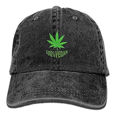 Funny 100% Leaf Weed Adult Sport Adjustable Baseball Cap Cowboy Hat by NDJHEH
