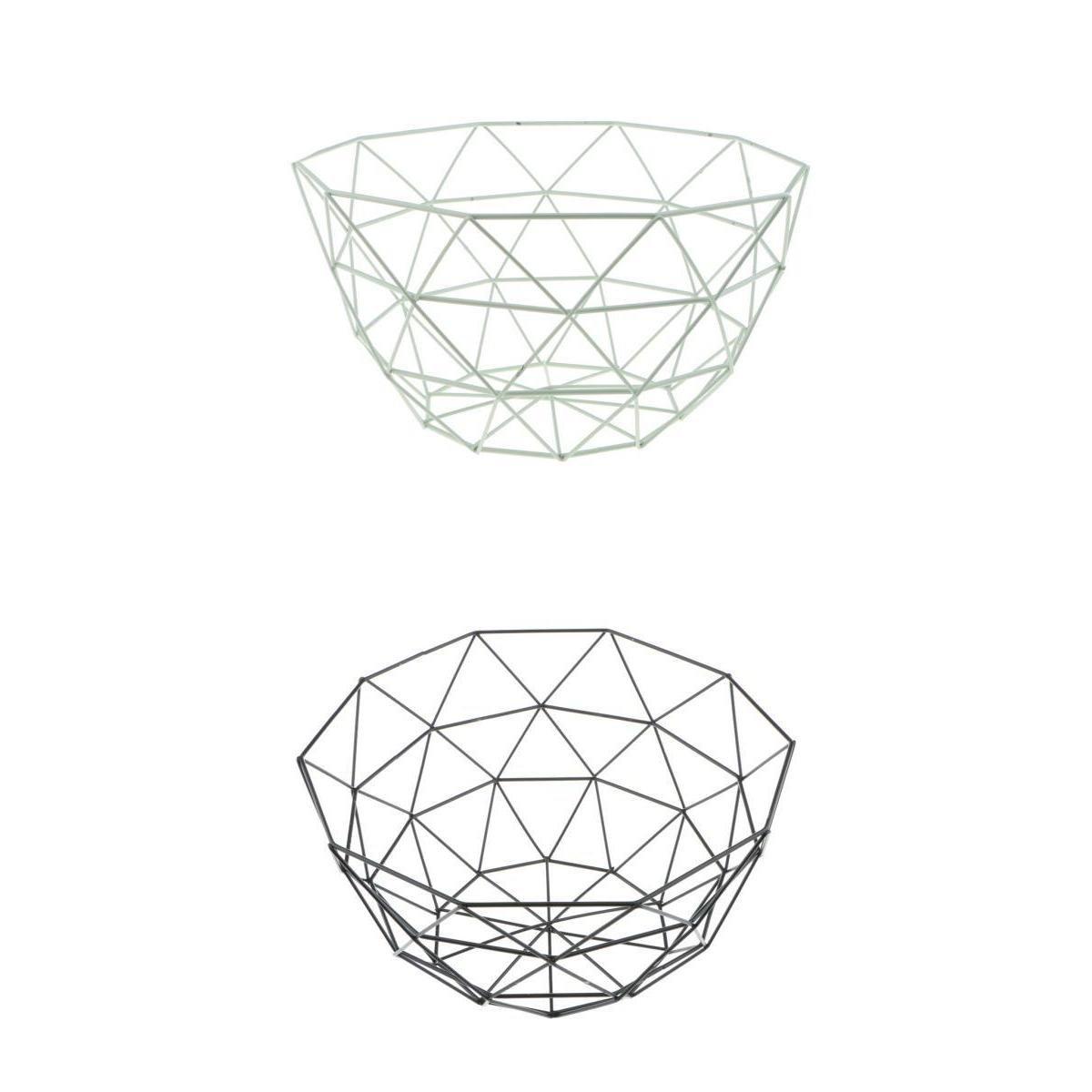 Dolity Large Bowl Deep Fruit Bowl Food Holder Case Rack Stand Bread Bowl Tray 5kg 10'' Dia - Metal, Set 1