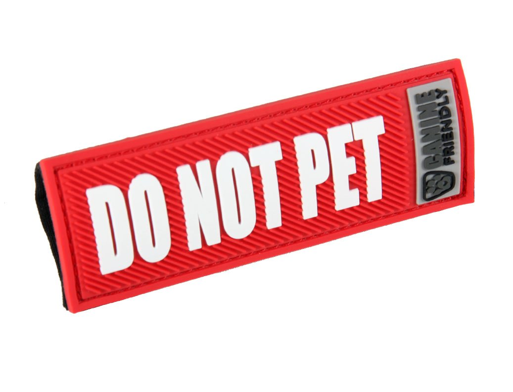 Canine Friendly Bark Notes 'Do Not Pet' Patch for Collar or Leash 1