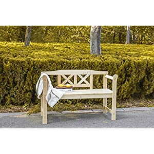 FoxHunter 2 Seater Wooden Garden Bench
