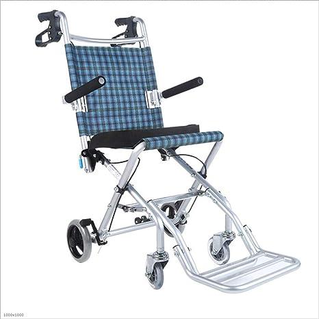 MODYL Silla De Ruedas De Aleación De Aluminio Plegable Luz Vieja Persona Discapacitados
