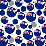 Premium Gift Wrap Wrapping Paper Roll Pattern - Country National Flag A-C - Anguilla National Country Flag