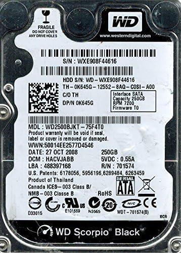 HACVJABB Western Digital WD2500BJKT-75F4T0 250GB DCM