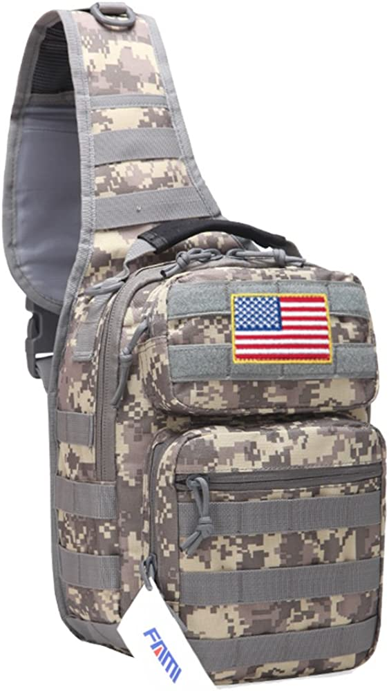 FAMI Sling Backpack Tactical sling bag reebow,Military Sport Bag Pack Shoulder Backpack