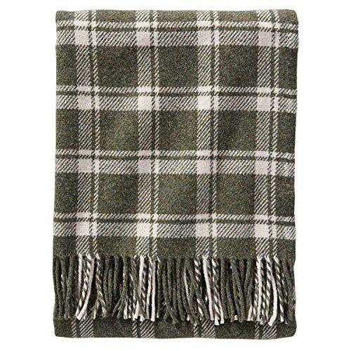 Pendleton Wool Eco-wise Washable Throw Blanket (Spruce/Bone Plaid, One Size) (Plaid Wool Blankets)