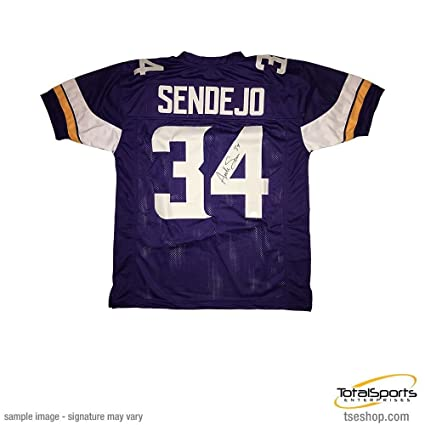 Image Unavailable. Image not available for. Color  Signed Andrew Sendejo  Jersey - Custom Purple - Autographed ... 44ad1fe12