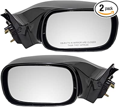 Mirror Power Heated Memory Signal Smooth Black Pair Set for Toyota Avalon New
