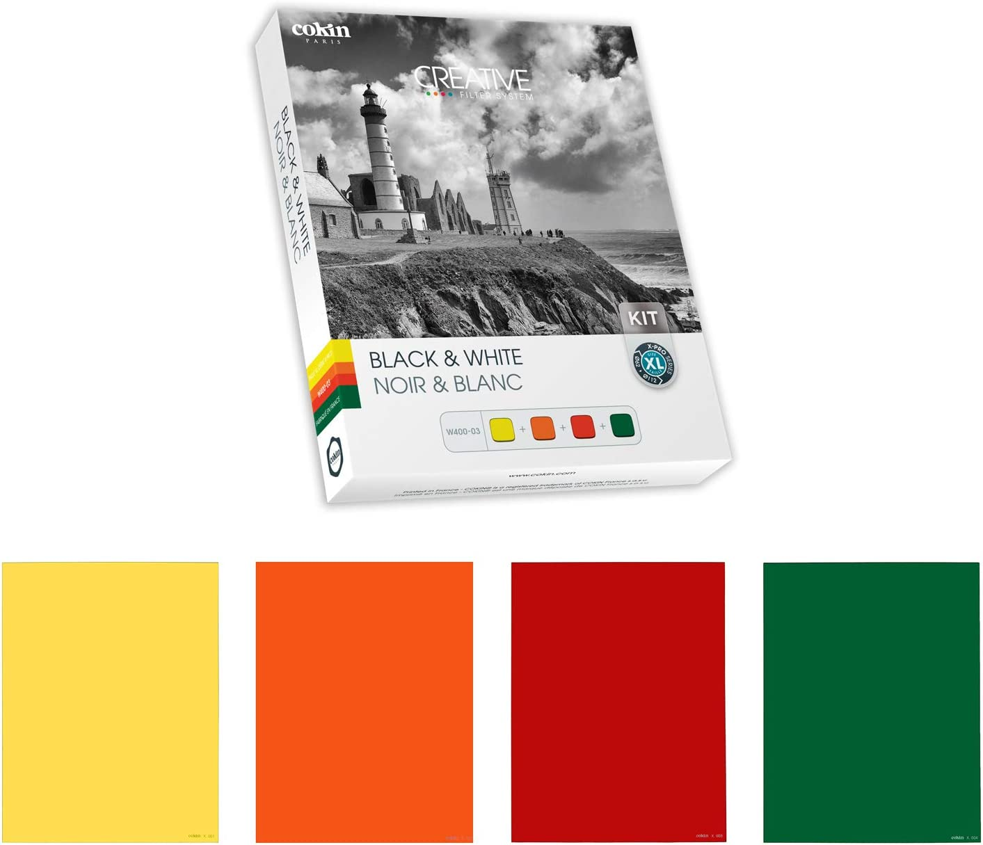 Red Includes Yellow Cokin Square Filter Black /& White Creative Kit 004 Green 130mm X 130mm for XL Orange 003 X 002 001 Series Holder