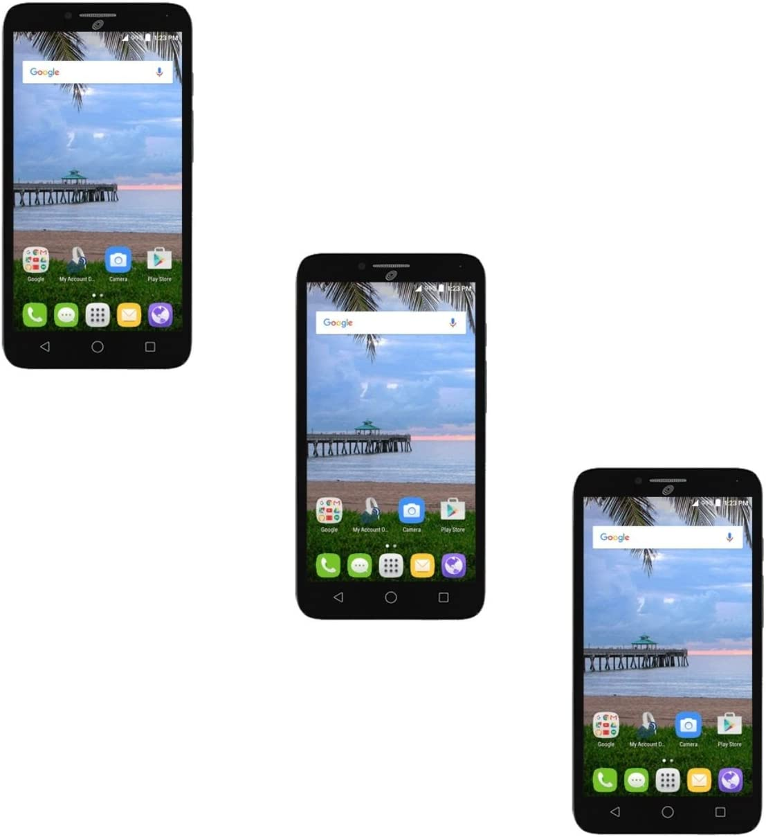 3x Clear Film Screen Protector Guard for Alcatel One Touch PIXI Glory A621BL A621BG