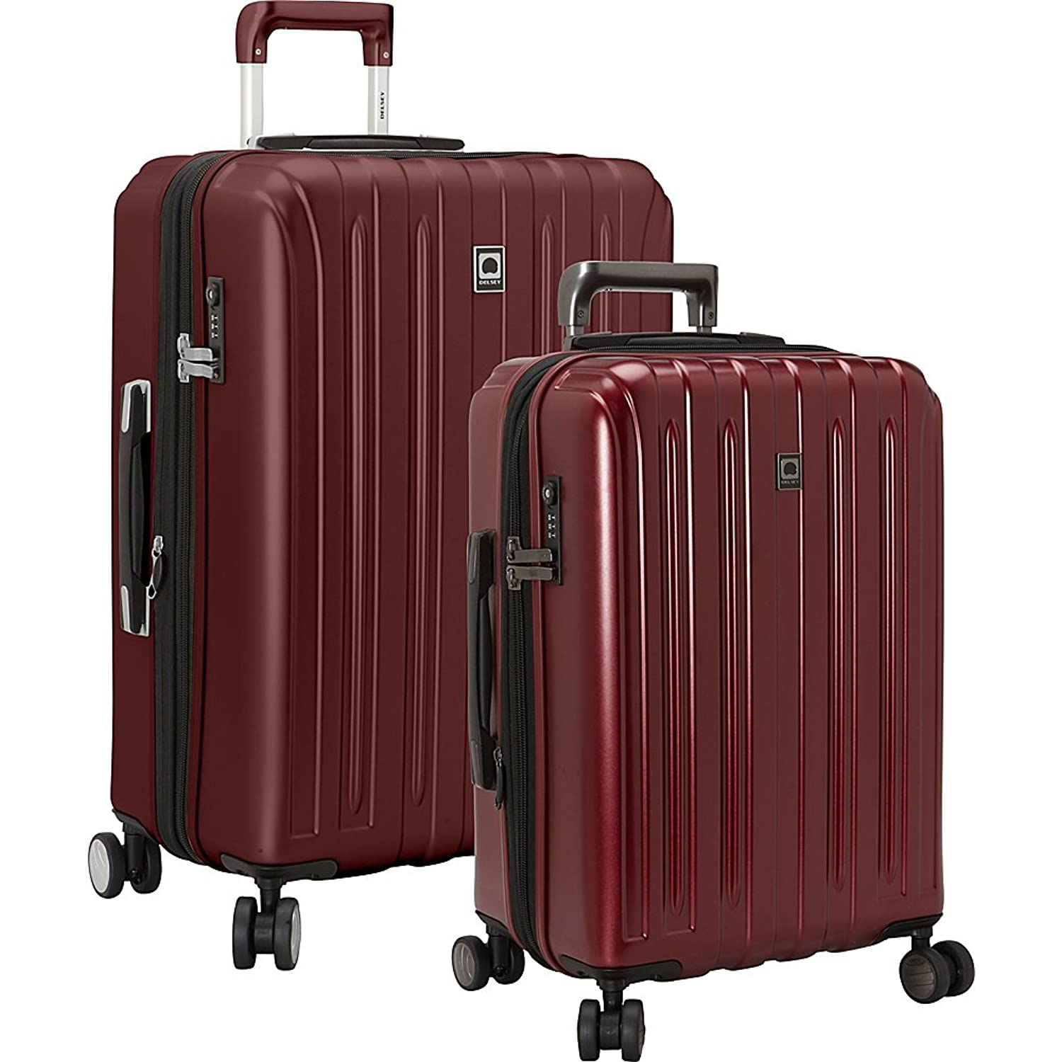 Delsey Luggage Sets On Sale 2 Piece Cherry Red Hardside Spinner ...